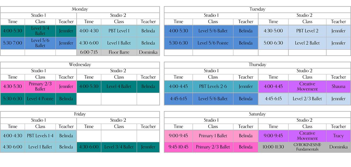 2017-2018 School Schedule 9-13-17